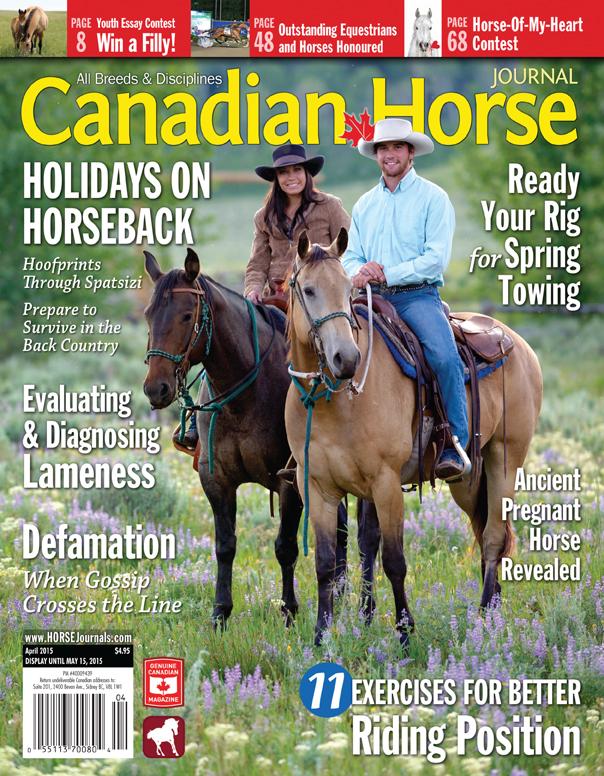 Canadian Horse Journal Magazine Canadian Horse Journal April